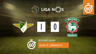 Liga NOS (8ªJ): Resumo Flash Moreirense FC 1-0 Marítimo M.