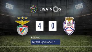 I Liga (11ªJ): Resumo SL Benfica 4-0 CD Feirense