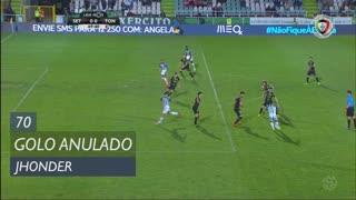 Vitória FC, Golo Anulado, Jhonder aos 70'