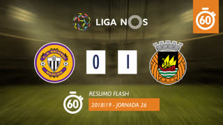 Liga NOS (26ªJ): Resumo Flash CD Nacional 0-1 Rio Ave FC