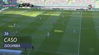 Sporting CP, Caso, Doumbia aos 36'