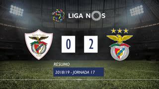Liga NOS (17ªJ): Resumo Sta. Clara 0-2 SL Benfica