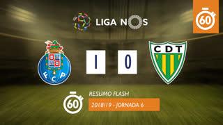 Liga NOS (6ªJ): Resumo Flash FC Porto 1-0 CD Tondela