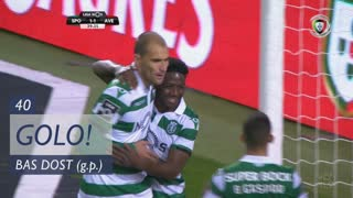 GOLO! Sporting CP, Bas Dost aos 40', Sporting CP 1-1 CD Aves