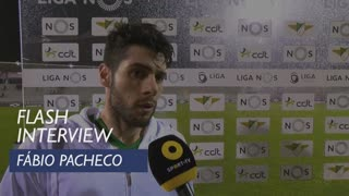 Liga (21ª): Flash Interview Fábio Pacheco