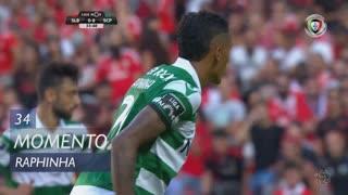 Sporting CP, Jogada, Raphinha aos 34'