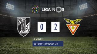 Liga NOS (30ªJ): Resumo Vitória SC 0-2 CD Aves
