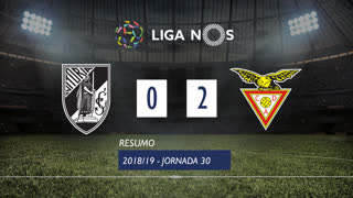 I Liga (30ªJ): Resumo Vitória SC 0-2 CD Aves