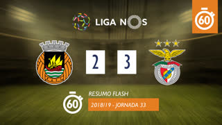 Liga NOS (33ªJ): Resumo Flash Rio Ave FC 2-3 SL Benfica