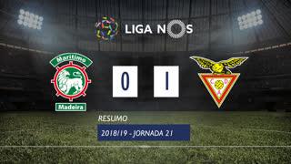 Liga NOS (21ªJ): Resumo Marítimo M. 0-1 CD Aves