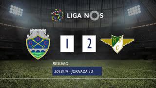Liga NOS (13ªJ): Resumo GD Chaves 1-2 Moreirense FC