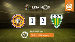 Liga NOS (24ªJ): Resumo Flash CD Nacional 3-2 CD Tondela
