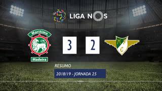 Liga NOS (25ªJ): Resumo Marítimo M. 3-2 Moreirense FC