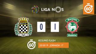 Liga NOS (17ªJ): Resumo Flash Boavista FC 0-1 Marítimo M.
