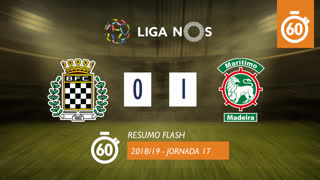 I Liga (17ªJ): Resumo Flash Boavista FC 0-1 Marítimo M.