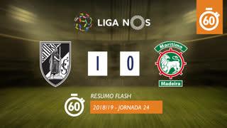 Liga NOS (24ªJ): Resumo Flash Vitória SC 1-0 Marítimo M.