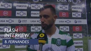 Liga (6ª): Flash interview Bruno Fernandes