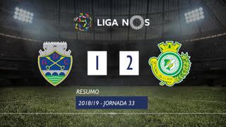 Liga NOS (33ªJ): Resumo GD Chaves 1-2 Vitória FC