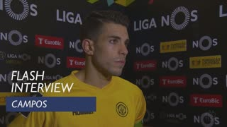 Liga (16ª): Flash interview Campos