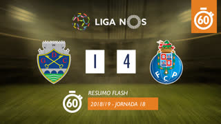 Liga NOS (18ªJ): Resumo Flash GD Chaves 1-4 FC Porto