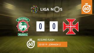 Liga NOS (5ªJ): Resumo Flash Marítimo M. 0-0 Os Belenenses