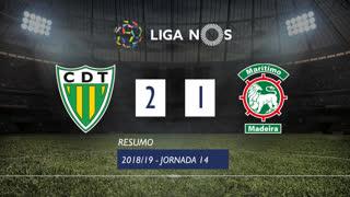Liga NOS (14ªJ): Resumo CD Tondela 2-1 Marítimo M.