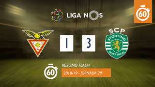Liga NOS (29ªJ): Resumo Flash CD Aves 1-3 Sporting CP