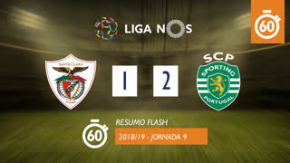 Liga NOS (9ªJ): Resumo Flash Santa Clara 1-2 Sporting CP