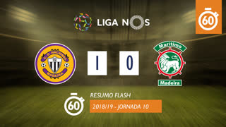 Liga NOS (10ªJ): Resumo Flash CD Nacional 1-0 Marítimo M.