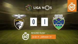 Liga NOS (19ªJ): Resumo Flash Portimonense 0-1 GD Chaves