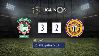 Liga NOS (27ªJ): Resumo Marítimo M. 3-2 CD Nacional