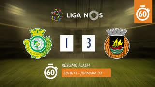 Liga NOS (34ªJ): Resumo Flash Vitória FC 1-3 Rio Ave FC