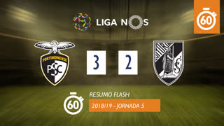 Liga NOS (5ªJ): Resumo Flash Portimonense 3-2 Vitória SC