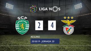 Liga NOS (20ªJ): Resumo Sporting CP 2-4 SL Benfica