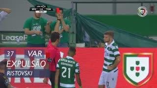 Sporting CP, Expulsão, Ristovski aos 37'