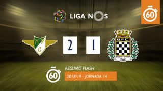 I Liga (14ªJ): Resumo Flash Moreirense FC 2-1 Boavista FC