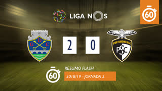 Liga NOS (2ªJ): Resumo Flash GD Chaves 2-0 Portimonense