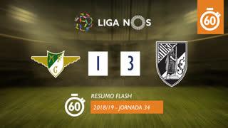Liga NOS (34ªJ): Resumo Flash Moreirense FC 1-3 Vitória SC