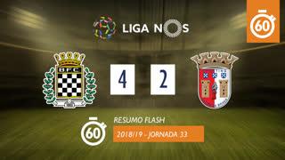 Liga NOS (33ªJ): Resumo Flash Boavista FC 4-2 SC Braga