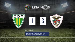 Liga NOS (32ªJ): Resumo CD Tondela 1-3 Sta. Clara