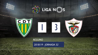Liga NOS (32ªJ): Resumo CD Tondela 1-3 Santa Clara