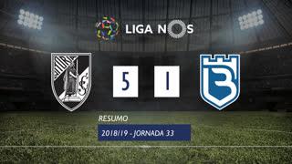 Liga NOS (33ªJ): Resumo Vitória SC 5-1 Belenenses