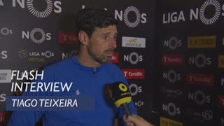 Liga (19ª): Flash interview Tiago Teixeira