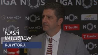 Liga (9ª): Flash interview Rui Vitória