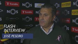 Liga (8ª): Flash interview José Peseiro