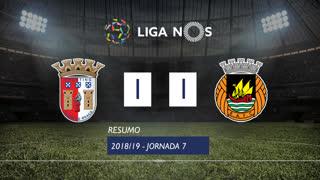 Liga NOS (7ªJ): Resumo SC Braga 1-1 Rio Ave FC