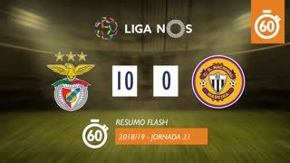 Liga NOS (21ªJ): Resumo Flash SL Benfica 10-0 CD Nacional