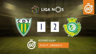 Liga NOS (8ªJ): Resumo Flash CD Tondela 1-2 Vitória FC