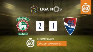 Liga NOS (27ªJ): Resumo Flash Marítimo M. 2-1 Gil Vicente FC