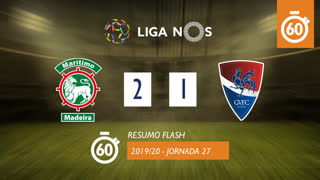 I Liga (27ªJ): Resumo Flash Marítimo M. 2-1 Gil Vicente FC